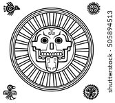 stylized skull. pagan god of... | Shutterstock .eps vector #505894513