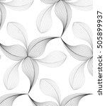 abstract linear petal flower.... | Shutterstock .eps vector #505899937