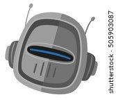 metal robot icon flat vector   Shutterstock .eps vector #505903087