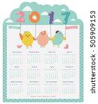2017 year calendar board. happy ...   Shutterstock .eps vector #505909153
