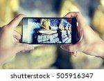 travel trip  vacation camera... | Shutterstock . vector #505916347