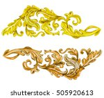 collection vintage gold and... | Shutterstock . vector #505920613
