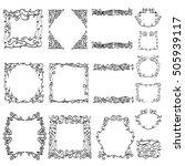 hand drawn frames | Shutterstock .eps vector #505939117