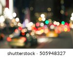 blurred lights in the street ... | Shutterstock . vector #505948327