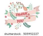 thank you vintage card. vector... | Shutterstock .eps vector #505952227