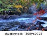 an algonquin river rapids in... | Shutterstock . vector #505960723