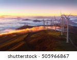wind turbines on the mountain | Shutterstock . vector #505966867