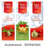 christmas set of vertical... | Shutterstock .eps vector #505969303