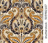 seamless paisley floral pattern.... | Shutterstock .eps vector #505982107