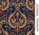 seamless paisley background ... | Shutterstock .eps vector #505982137