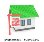 isolated model of house with... | Shutterstock . vector #505988347