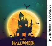 happy halloween poster vector | Shutterstock .eps vector #506002933