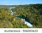 cascades of aratiatia rapids... | Shutterstock . vector #506003623
