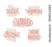 utah  wyoming  colorado ... | Shutterstock .eps vector #506011063