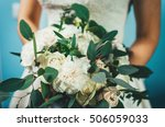 designer wedding bouquet in... | Shutterstock . vector #506059033