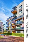 modern complex of apartment... | Shutterstock . vector #506060047