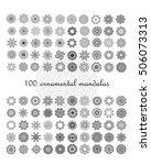 set of ornamental mandalas.... | Shutterstock .eps vector #506073313