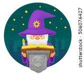 vector illustration of a magic... | Shutterstock .eps vector #506076427