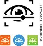 retina scanner icon.  | Shutterstock .eps vector #506091157