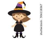halloween witch vector cartoon... | Shutterstock .eps vector #506118367