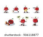 tomato man cartoon set | Shutterstock .eps vector #506118877