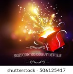 christmas background with open... | Shutterstock .eps vector #506125417