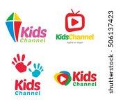 kids channel tv logo icon... | Shutterstock .eps vector #506137423