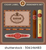 vintage cigar label set. design ... | Shutterstock .eps vector #506146483