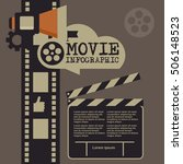 retro movie template  media... | Shutterstock .eps vector #506148523