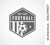 soccer emblem flat icon on... | Shutterstock .eps vector #506149837