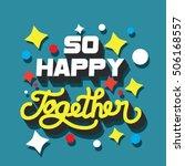 family values love ... | Shutterstock .eps vector #506168557