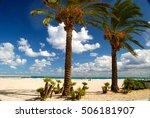 the famous beach of san vito lo ... | Shutterstock . vector #506181907