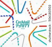 coctail party flyer banner or... | Shutterstock .eps vector #506183503