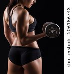 beautiful body of  fitness... | Shutterstock . vector #506186743