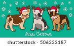 happy new year card. abstract... | Shutterstock .eps vector #506223187