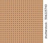 seamless brown peg board...   Shutterstock .eps vector #506225743