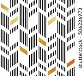 seamless gold and black chevron ... | Shutterstock .eps vector #506226973