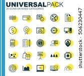 set of 25 universal editable... | Shutterstock .eps vector #506230447