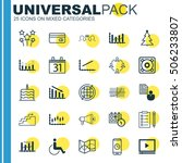 set of 25 universal editable... | Shutterstock .eps vector #506233807