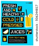 fresh and healthy cold pressed... | Shutterstock .eps vector #506244817