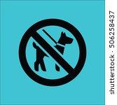 no dog icon vector illustration
