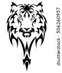 vector tiger's head as a design ... | Shutterstock .eps vector #506260957