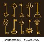 ornamental medieval vintage keys | Shutterstock .eps vector #506263927