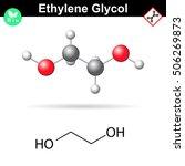 ethylene glycol organic...   Shutterstock . vector #506269873