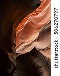 Small photo of Lower Antelope Slot Canyon aglow with reflected sunlight, Arizona, USA