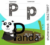 illustrator of panda with p font | Shutterstock .eps vector #506278897
