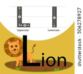 illustrator of lion with l font | Shutterstock .eps vector #506278927