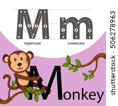 illustrator of monkey with m... | Shutterstock .eps vector #506278963
