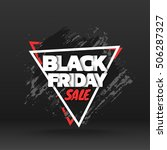 black friday sale. abstract... | Shutterstock .eps vector #506287327