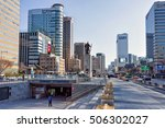 seoul  south korea   march 11 ... | Shutterstock . vector #506302027
